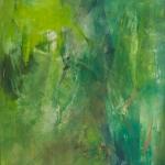 Catharina de Rijke, Nice to meet you XV, 2013, 110x130 cm, Pigmente und Acryl auf Segeltuch
