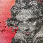SAXA, Lovely Ludwig, Mixed Media on Canvas, 80 x 80 cm, 2020 UNIKAT